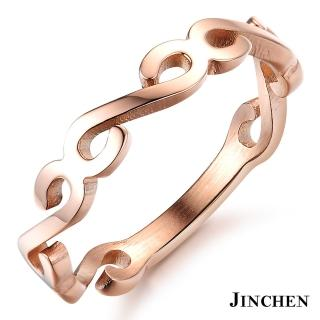 【JINCHEN】316L鈦鋼戒指單個價TBC-438玫金(復古花紋戒指/韓版百搭/甜美女孩)