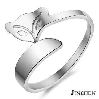 【JINCHEN】316L鈦鋼戒指單個價TBC-393銀色(狐狸戒指/韓版百搭/古典美人)