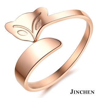 【JINCHEN】316L鈦鋼戒指單個價TBC-393玫金(狐狸戒指/韓版百搭/古典美人)