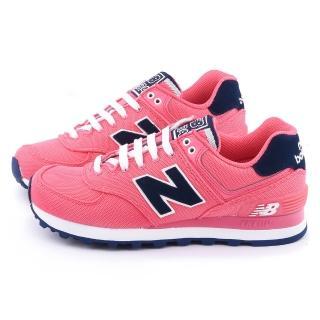 【New Balance】女款 復古運動鞋(WL574POP-桃)