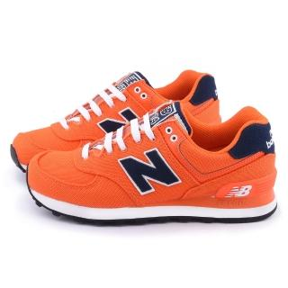 【New Balance】女款 復古運動鞋(WL574POO-橘)