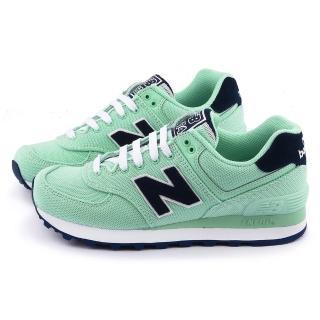 【New Balance】女款 復古運動鞋(WL574HRI-綠)