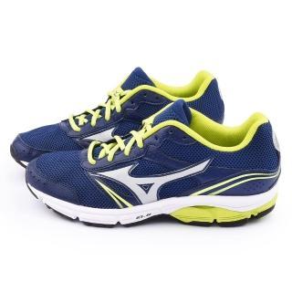 【MIZUNO】男款WAVE IMPETUS 3 慢跑鞋(J1GE151302-藍黃)