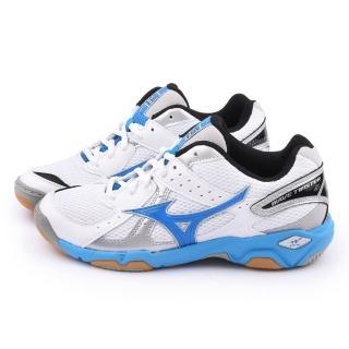 【MIZUNO】女款 WAVE TWISTER 4 W 排球運動鞋(V1GC157024-銀藍)