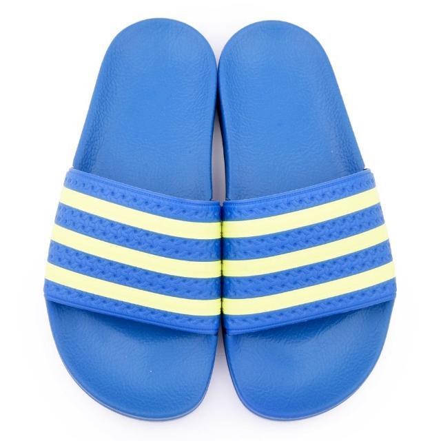 【Adidas】成人款 ADILETTE運動拖鞋(B35626-藍黃)