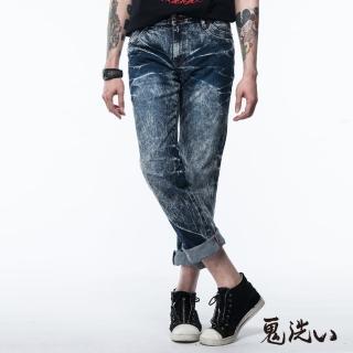 【BLUEWAY】口袋反折低腰直筒褲