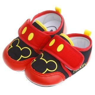 【布布童鞋】Disney迪士尼經典米奇紅棉柔防滑寶寶學步鞋(MAN249A)