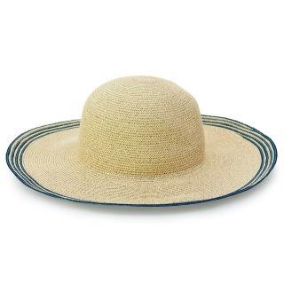 【Limehi】時尚造型大檐草帽 沙灘遮陽帽 可折疊帽(淺卡其 Lime-22-L)