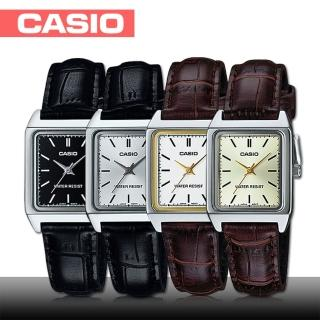 【CASIO 卡西歐】日系-簡約大方俐落皮革女錶(LTP-V007L)
