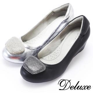 【Deluxe】初秋韓版真皮內增高鞋(楔型鞋)
