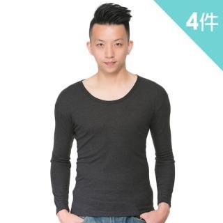 【富立金】溫控男圓領羅紋發熱衣-4件組(L282上衣-內著)