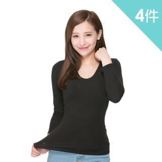【富立金】勁速女U領發熱衣-4件組(L278上衣-內著)