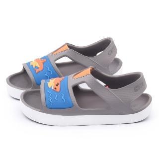 【SKECHERS】小童 輕量涼鞋(92116NGYOR-灰)