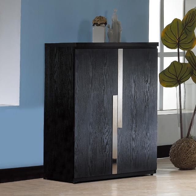 【東京家居】奧斯頓2.7尺黑色鞋櫃