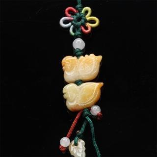 【寶石方塊】鶼鰈情深天然玉石墜子-吊飾/項鍊