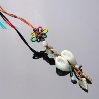 【寶石方塊】繡花鞋天然玉石墜子-吊飾/項鍊