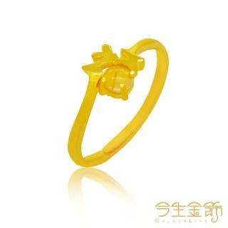【今生金飾】福田聚財戒(時尚黃金開運尾戒)