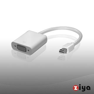 【ZIYA】Macbook 轉接線 Mini DisplayPort to VGA 視訊轉接線(平頭)