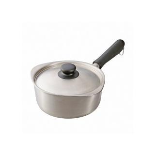 【柳宗理】霧面不鏽鋼單手鍋-18cm(附不鏽鋼蓋)