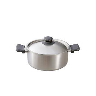 【柳宗理】不鏽鋼雙耳鍋-22cm(附不鏽鋼蓋)