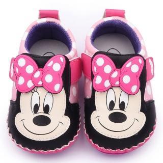 【童鞋城堡】迪士尼 米妮蝴蝶結寶寶鞋(453247-粉)