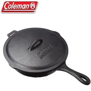 【美國Coleman】10吋經典鑄鐵附蓋平底鍋.鑄鐵鍋.荷蘭鍋.平底煎鍋(CM-21880)