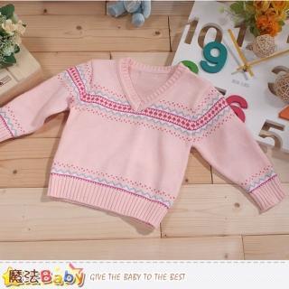 【魔法Baby】專櫃款幼兒V領長袖毛線衣(k43372)