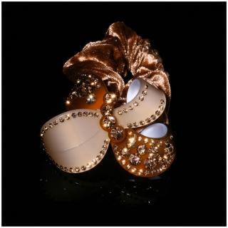 【NDM南大門】韓系奢華水鑽髮束水晶髮飾絨布髮圈 大號(焦糖瑪奇朵906033)