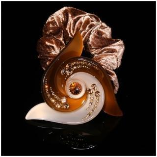 【NDM南大門】韓系奢華水鑽髮束水晶髮飾絨布髮圈 大號(焦糖拿鐵906024)