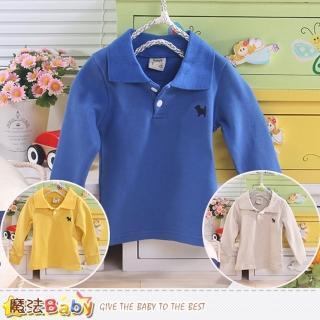 【魔法Baby】嬰幼兒長袖POLO衫(k43501)