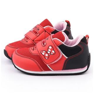 【童鞋城堡】迪士尼 中童 米妮輕量透氣運動鞋(453088-紅)