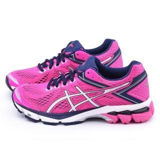 【Asics】女款 GT-1000 4 高支撐型輕量慢跑鞋(T5A7N-3593-桃)