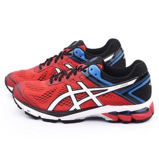 【Asics】男款 GT-1000 4 高支撐型慢跑鞋(T5A2N-2301-紅)