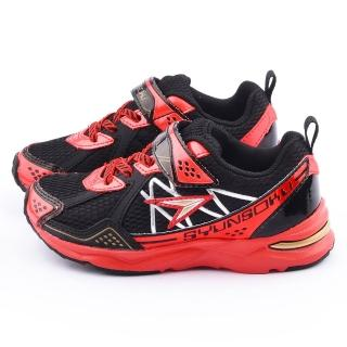 【Achilles瞬足】大童 輕量寬楦運動鞋(ESJJ0810-黑)