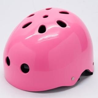 【D.L.D 多輪多】專業直排輪 溜冰鞋 自行車 安全頭盔 安全帽(粉紅)