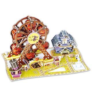【FUN PUZZLE】3D拼圖-萬聖節摩天輪