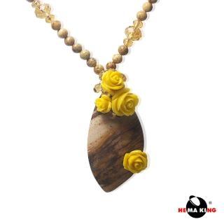 【HEMAKING】天然紋路風景石玫瑰項鍊