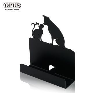 【OPUS東齊金工】歐式鐵藝名片座/高級名片架/會展用品/金屬商務名片盒(CA-do06 寵愛_經典黑)