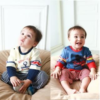 【baby童衣】嬰兒棒球裝連身衣 休閒服假3件式包屁衣 50453(共2色)