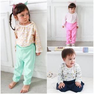 【baby童衣】寶寶衣服套裝 女童棉質長袖卡通上衣和長褲  秋款2件組 50552(共3色)