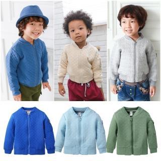 【baby童衣】中大童外套 純棉休閒拉鍊外套50569(共6色)