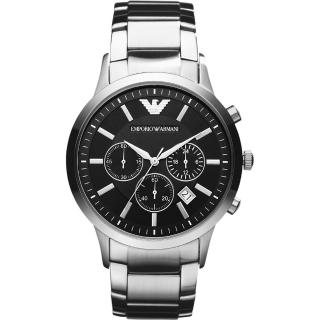 【ARMANI】Classic 王者時尚家三眼計時腕錶(AR2434)