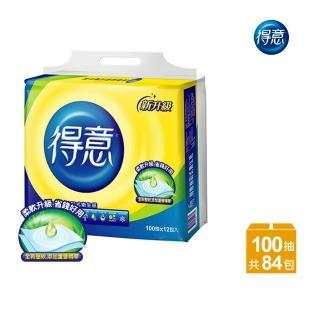 【得意】連續抽取式花紋衛生紙100抽*12包*7袋-Y15