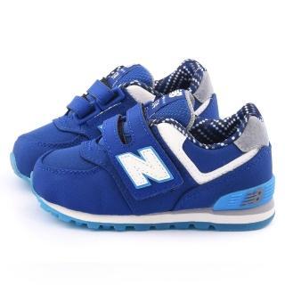 【NewBalance】小童 經典574寬楦避震運動鞋(KG574S8I-藍)