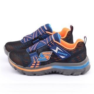 【SKECHERS】大童 輕量避震運動鞋(95341LNVOR-藍橘)