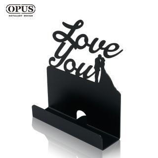 【OPUS東齊金工】歐式鐵藝名片座/高級名片架/會展用品/金屬商務名片盒(CA-do06 愛情_經典黑)