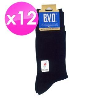 【BVD】男細針休閒襪24-26cm*12雙入