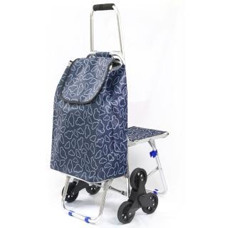 新改良輕量六輪附椅購物車/推車(高級靜音輪)