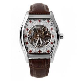 【Valentino范倫鐵諾】經典酒桶自動上鍊機械不鏽鋼腕錶手錶 雙面鏤空