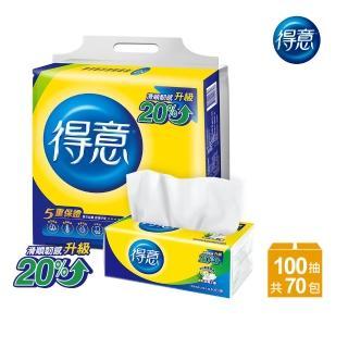 【得意】連續抽取式花紋衛生紙100抽*10包*7袋-Y15